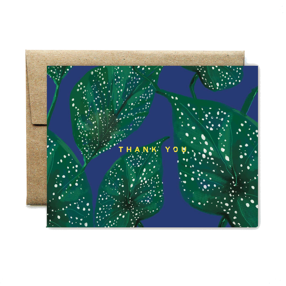 Foil spotted leaf thank you set