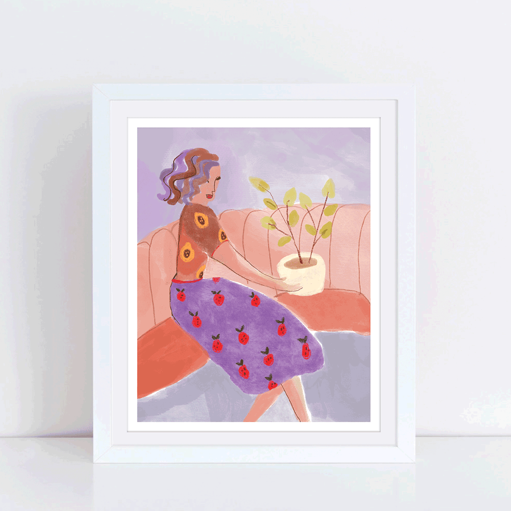 Strawberry lady art print