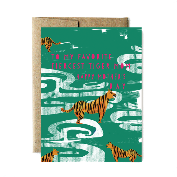 Fierce tiger mother's day card - year of the woman - Ferme à Papier