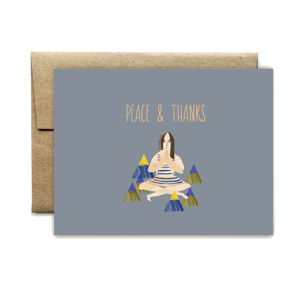 Peace and thanks card - year of the woman - Ferme à Papier