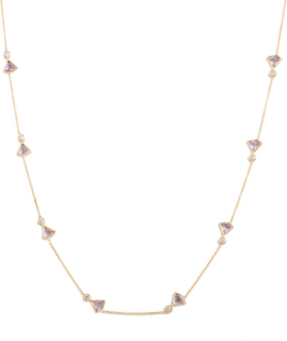 Fan Diamond Necklace, 18""
