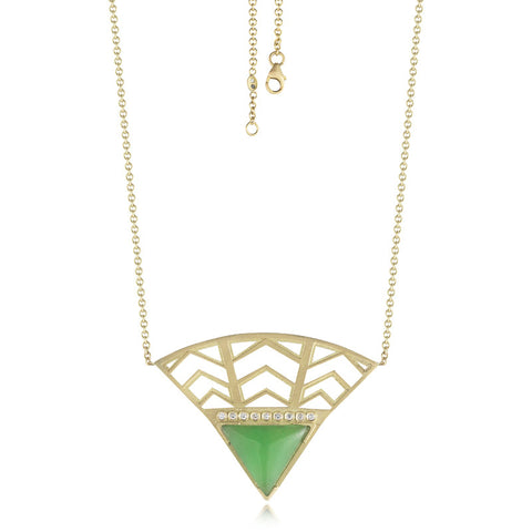 Herringbone Fan Necklace