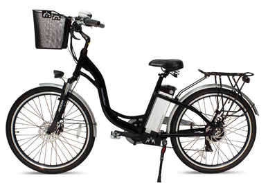 AmericanElectric Veller 2021 Step Through City Electric Bike Black View 2