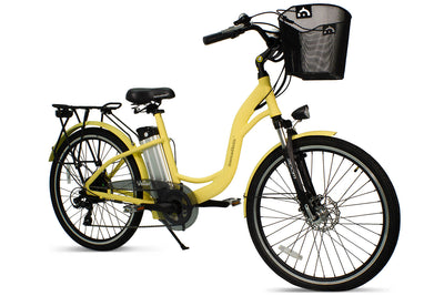 AmericanElectric Veller 2021 Step Through City Electric Bike Ivory View 3