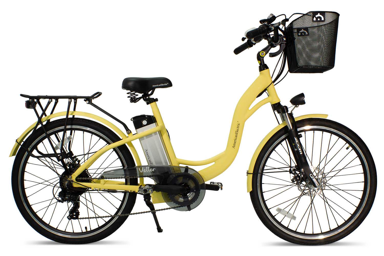 AmericanElectric Veller 2021 Step Through City Electric Bike Ivory