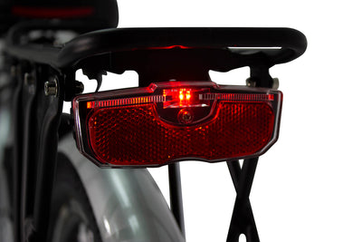 AmericanElectric Veller 2021 Step Through City Electric Bike Tail Light Back Light On