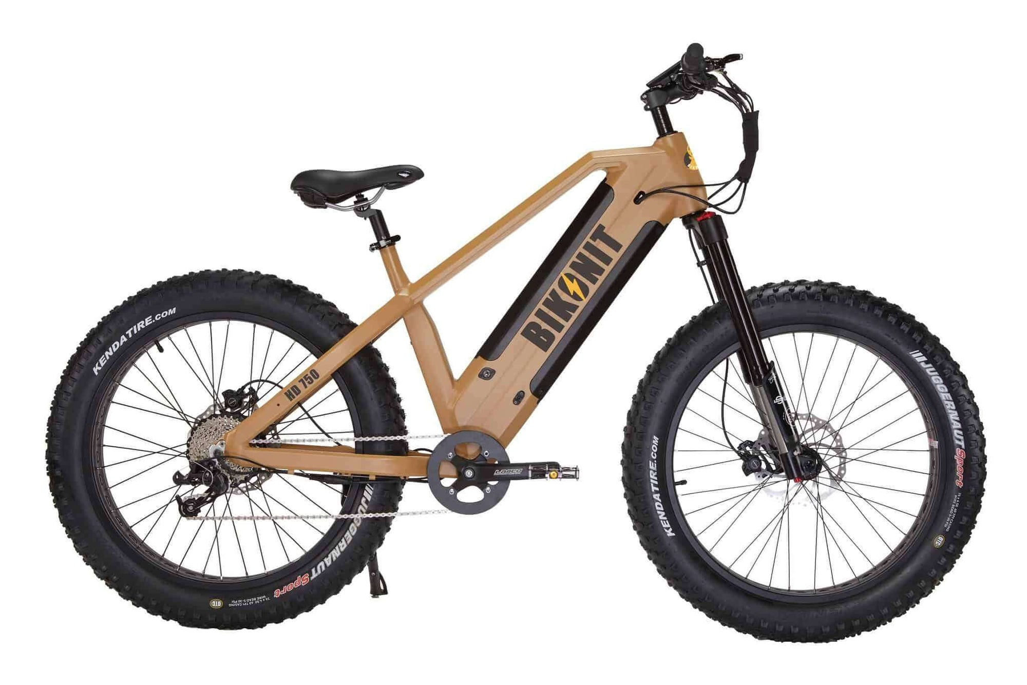 Bikonit HD 750 All-Terrain Hub-Drive Hunting & Fishing Fat Tire Electric Bike Sand Yellow