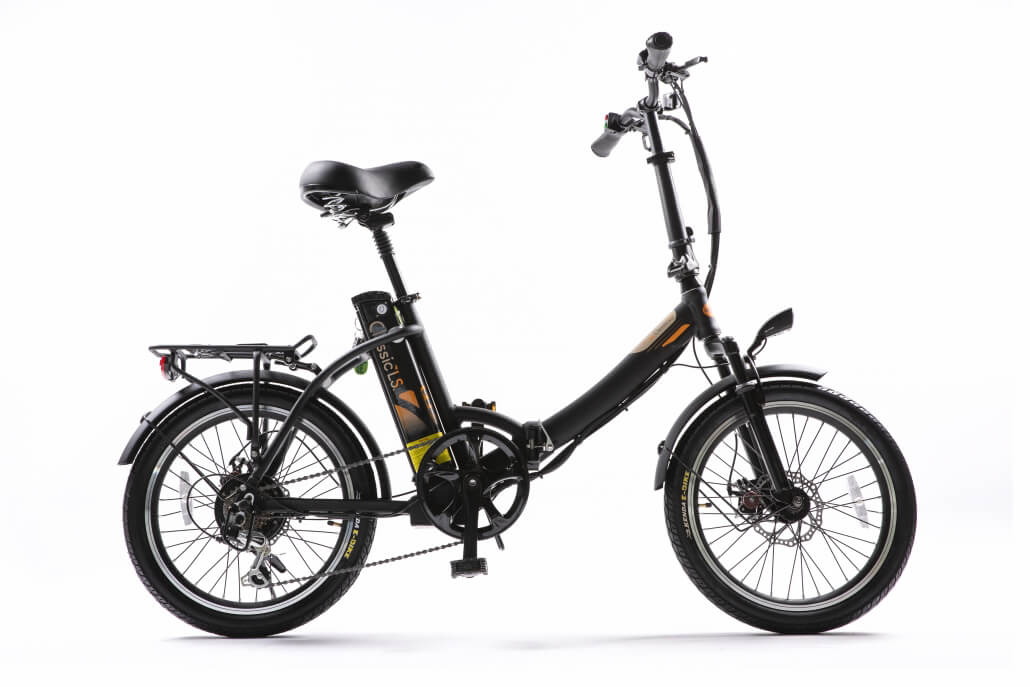 Green Bike Electric Motion Classic LS Folding City Electric Bike Black