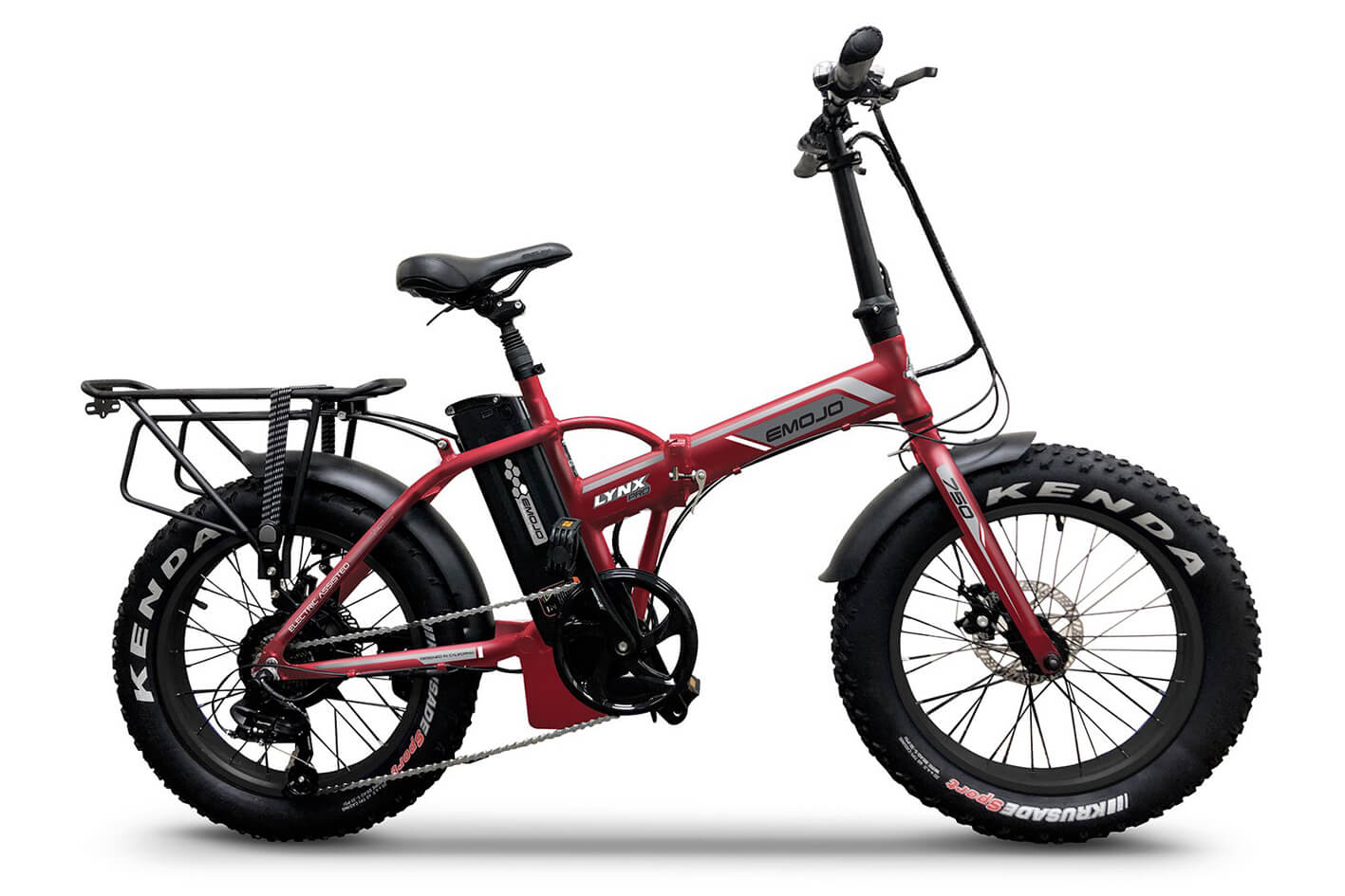 EMOJO LYNX Pro 750 Folding Fat Tire Electric Bike Matte Red