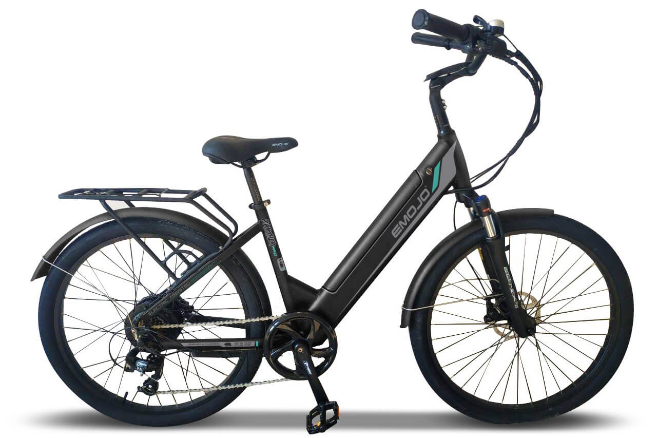 EMOJO Panther Pro Step-Through Cruiser Electric Bike Black
