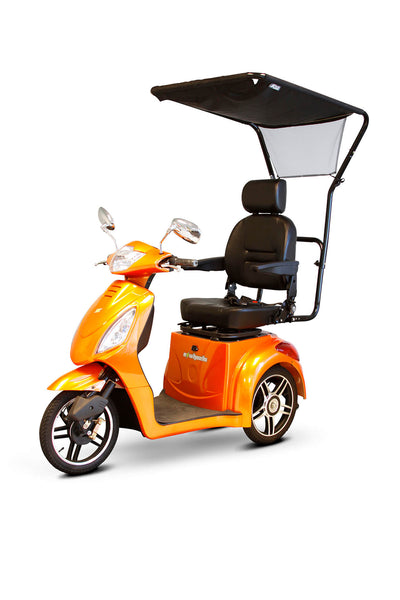 EWheels EW-36 Electric Mobility Scooter Orange Canopy