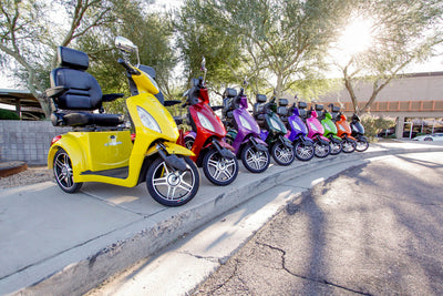EWheels EW-36 Electric Mobility Scooter Group Photo