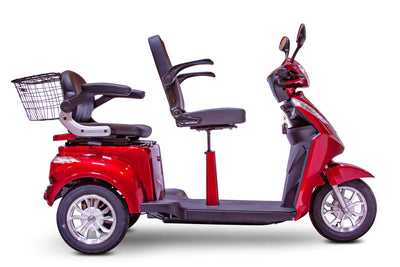 EWheels EW-66 700W 48V 2 Seat Electric Mobility Scooter Red