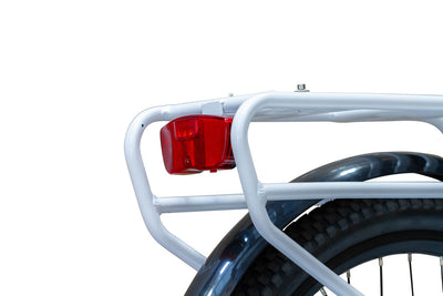 EWheels BAM EW-Step Thru 750W 48V City Cruiser Electric Bike Rear Light And Rack