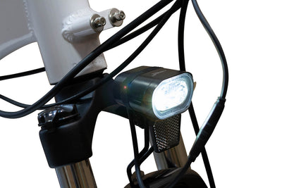 EWheels BAM EW-Step Thru 750W 48V City Cruiser Electric Bike Front Light On