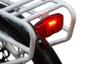 EWheels BAM EW-Step Thru 750W 48V City Cruiser Electric Bike Rear Light On