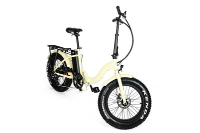 Eunorau 48V500W 20'' Foldable Step-Thru Fat Tire Electric Bike Cream 3