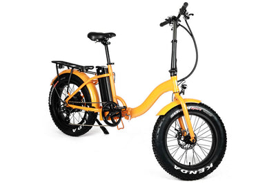 Eunorau 48V500W 20'' Foldable Step-Thru Fat Tire Electric Bike Orange 2