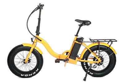 Eunorau 48V500W 20'' Foldable Step-Thru Fat Tire Electric Bike Orange