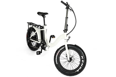 Eunorau 48V500W 20'' Foldable Step-Thru Fat Tire Electric Bike White 2