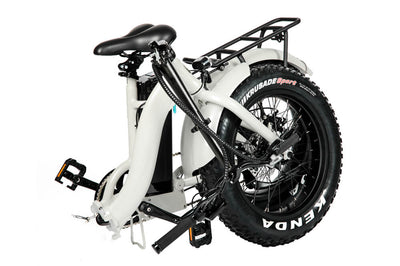 Eunorau 48V500W 20'' Foldable Step-Thru Fat Tire Electric Bike White Folding 3