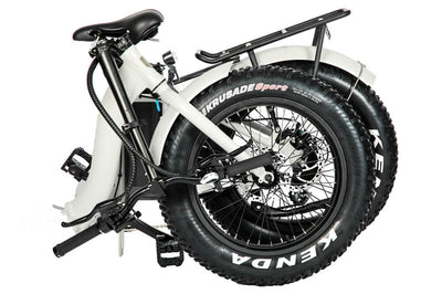 Eunorau 48V500W 20'' Foldable Step-Thru Fat Tire Electric Bike White Folding 2