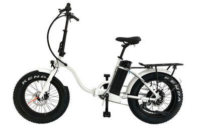 Eunorau 48V500W 20'' Foldable Step-Thru Fat Tire Electric Bike White