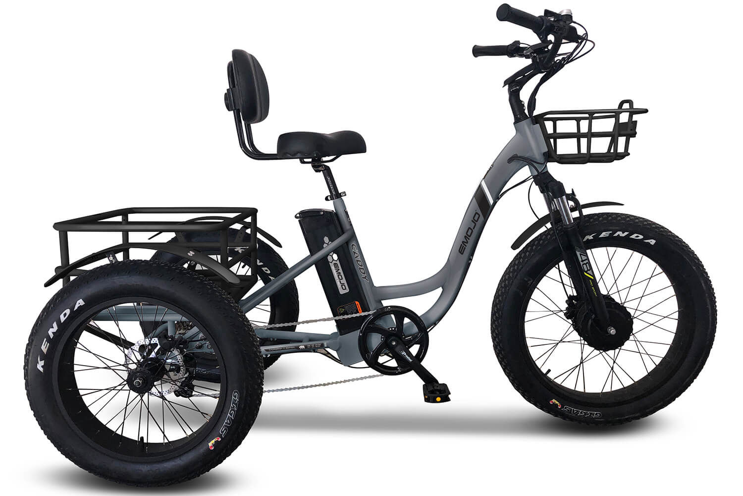 EMOJO Caddy Pro Fat Tire Electric Trike Gray