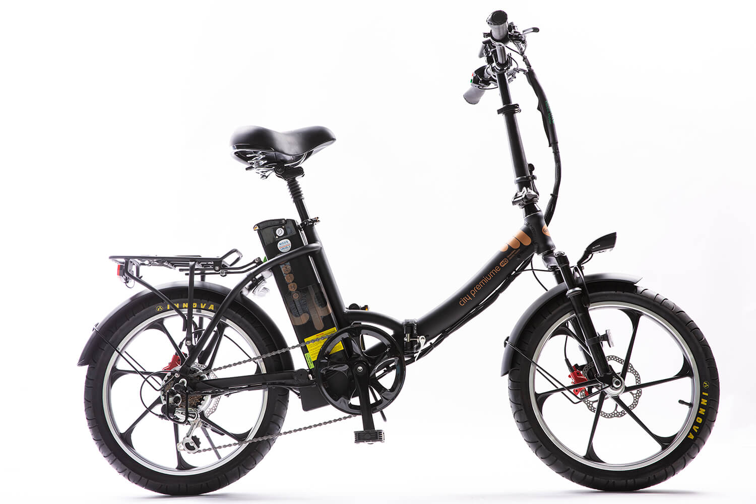 Green Bike Electric Motion City Premium Step Through Electric Bike
