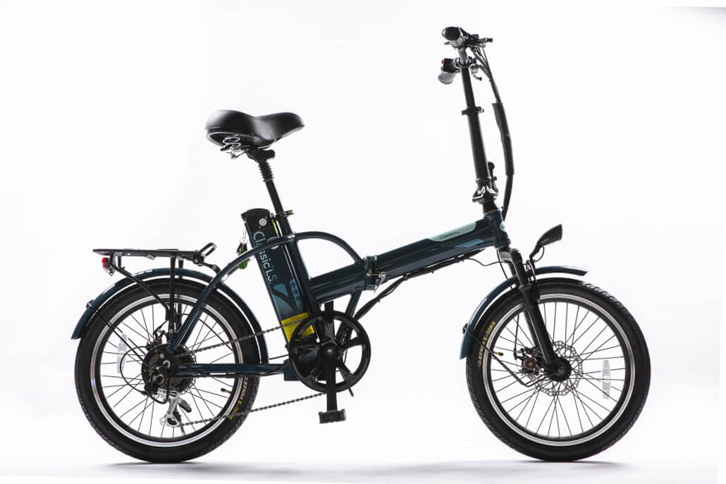 Green Bike Electric Motion Classic HS Folding City Electric Bike