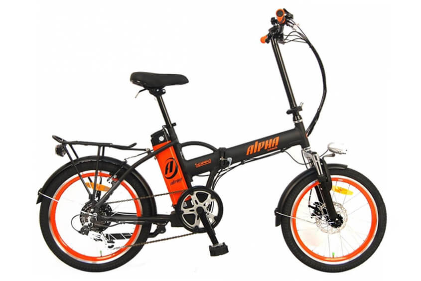 Green Bike Electric Motion Alpha Speed Folding Electric Bike