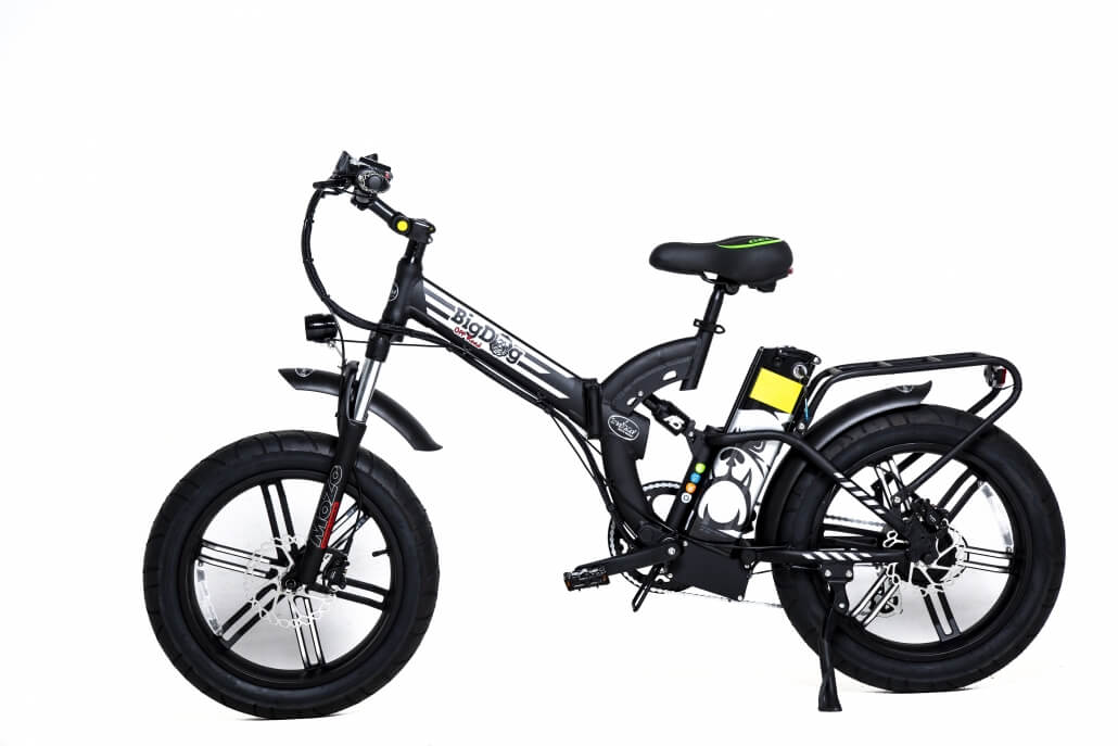 Green Bike Electric Motion Big Dog Off Road Folding Fat Tire Electric Bike Black Silver