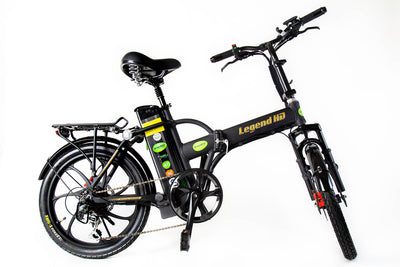 Green Bike Electric Motion Legend HD Folding Electric Bike Black Black