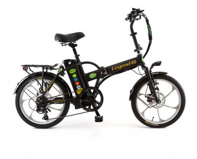 Green Bike Electric Motion Legend HD Folding Electric Bike Black Silver