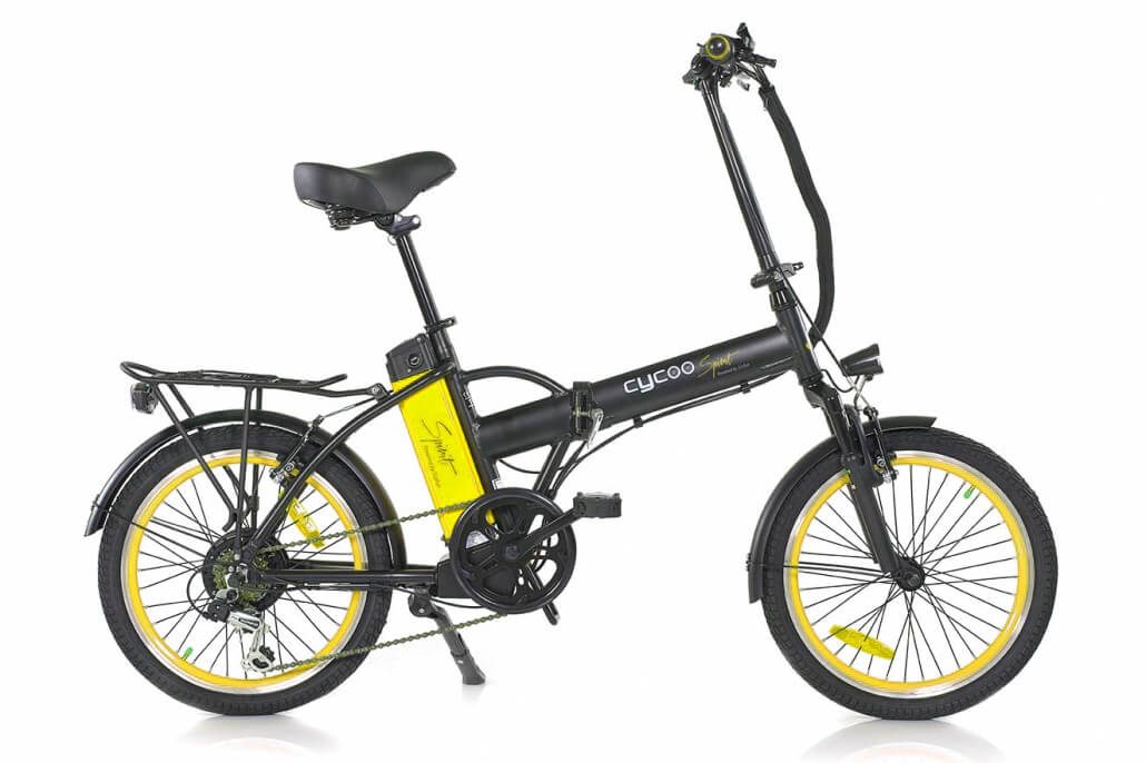 Green Bike Electric Motion Cycoo Spirit Folding Electric Bike