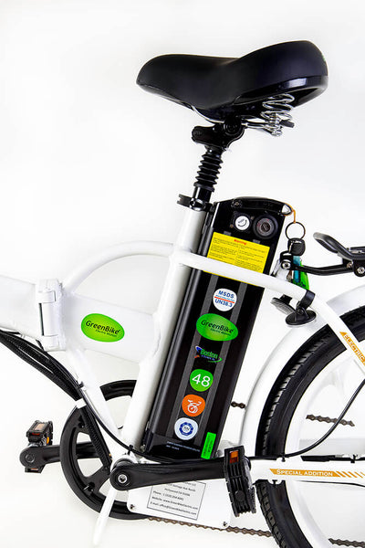 Green Bike Electric Motion Legend HD Folding Electric Bike White