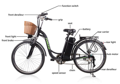 "Nakto Camel 26"" City Electric Bicycle For Women Features"