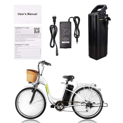 "Nakto Camel 26"" City Electric Bicycle For Women Included"