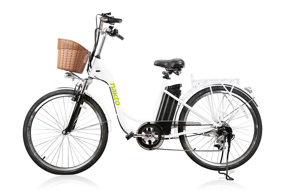 "Nakto Camel 26"" City Electric Bicycle For Women White"