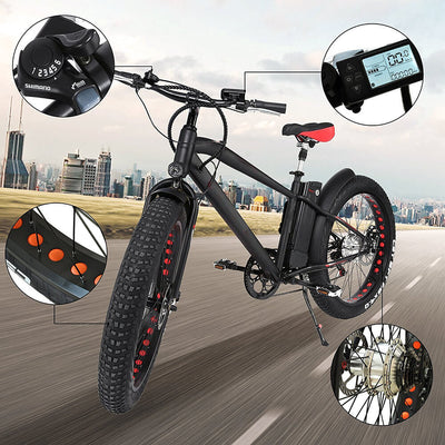 "Nakto Cruiser 26"" 300W Fat Tire Electric Bike Features 3"