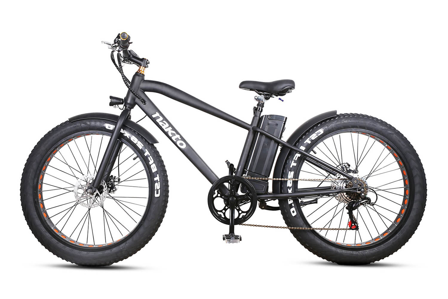 "Nakto Cruiser 26"" 300W Fat Tire Electric Bike Black"
