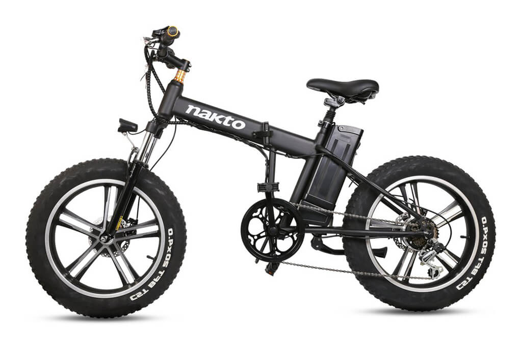 "Nakto Mini Cruiser 20"" Fat Tire Folding Electric Bike"