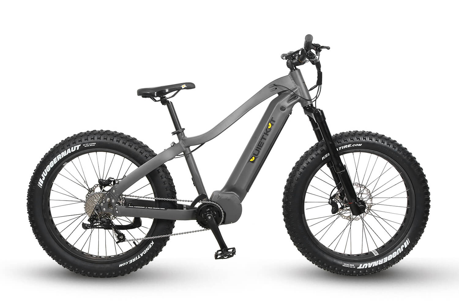 QuietKat 2020 Apex Fat Tire Electric Mountain Bike Charcoal