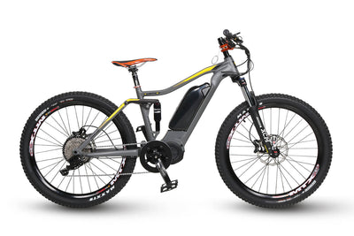 QuietKat 2020 Quantum Full Suspension Fat Tire Electric Mountain Bike Charcoal