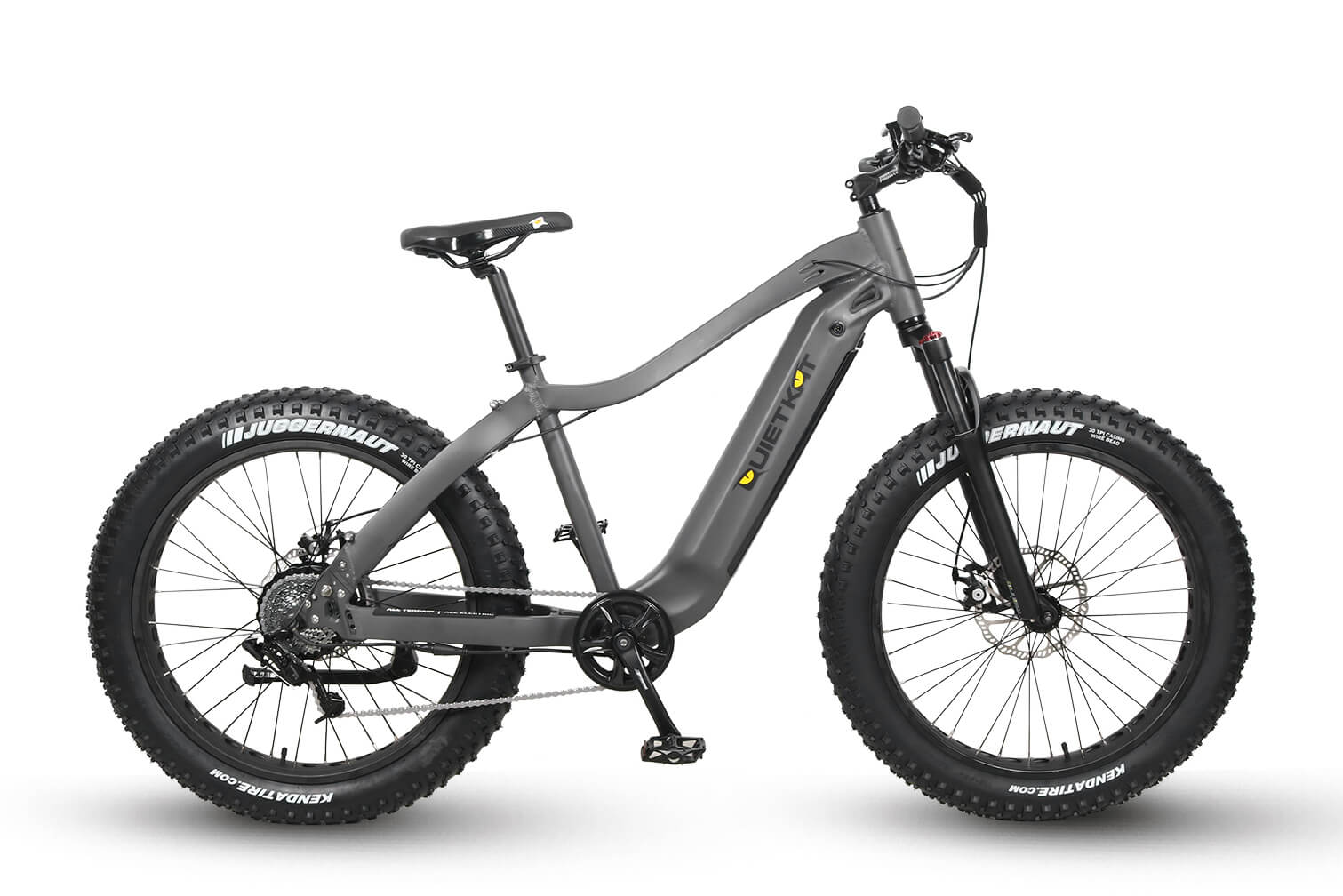 QuietKat 2020 Ranger Fat Tire Electric Mountain Bike Charcoal