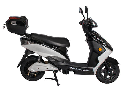 X-Treme Cabo Cruiser Elite 600W Moped Electric Bicycle Scooter Black