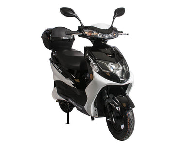 X-Treme Cabo Cruiser Elite 600W Moped Electric Bicycle Scooter Black Side
