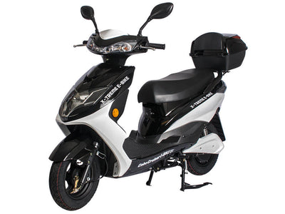 X-Treme Cabo Cruiser Elite 600W Moped Electric Bicycle Scooter Black Side 2