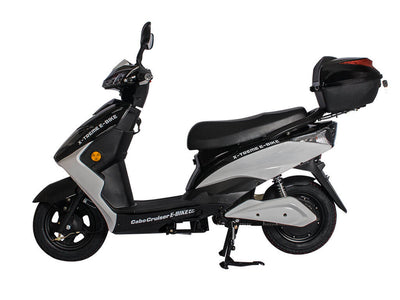 X-Treme Cabo Cruiser Elite 600W Moped Electric Bicycle Scooter Black 2