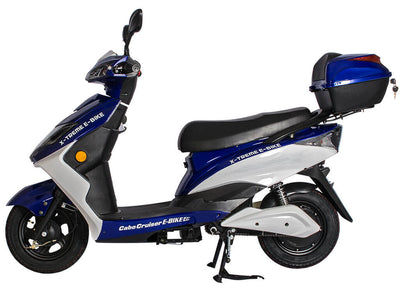 X-Treme Cabo Cruiser Elite 600W Moped Electric Bicycle Scooter Blue 2